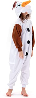 Beauty Shine Unisex Child Olaf Costume Halloween Cosplay Pajamas