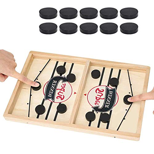2 in 1 Ice Hockey Game Fast Sling Puck Game Sports Board Game Winner Board Games 2 in 1 Slingshot Table Desktop Battle Toys for ParentChild Adults Kids  Large 22x 115 INCH
