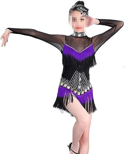 Peng sounded Robe de Danse Samba Latine pour Filles Robe de Danse Latine Fille