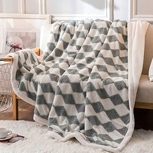 LIANG Fleece kasta filt-mikrofiber filt-reversibel fleece filt-lätt super mjuk och hela säsong varm-för soffa soffa säng och vardagsrum (Color : D, Size : 200 * 230CM/78 * 90IN)