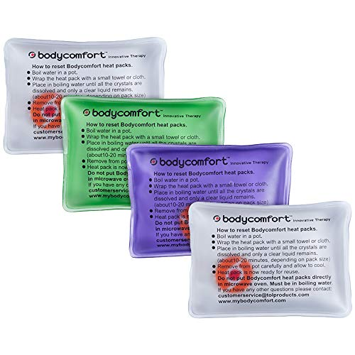 Body Comfort Heatpack 4 Classic Square Therapeutic Packs 2 Unscented 1 Lavender 1 Mint