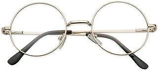 SunglassUP - Small Round Vintage Metal John Lennon Clear Lens Eye Glasses