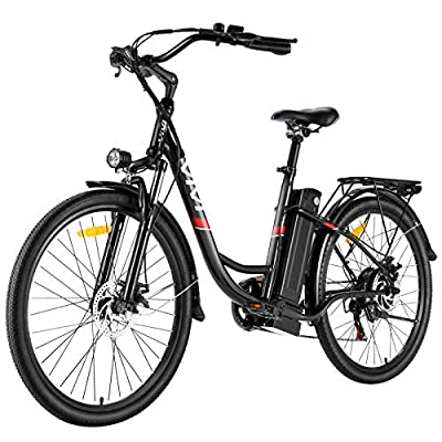 "VIVI Electric Bike 350W Adult Electric Bicycle 26"" Electric Cruiser Bike/Electric City Bike with Removable 8Ah Lithium-Ion Battery, Shimano 7 Speed"