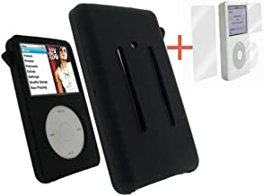 Black Silicone Skin Cover Case For iPod Video 30GB Classic 80GB/120GB/160GB+Screen Protector