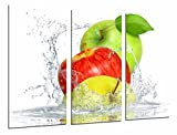 Cuadro Fotográfico Composicion Frutas Manzana Agua, Fruteria, Cocina Tamaño total: 97 x 62 cm XXL