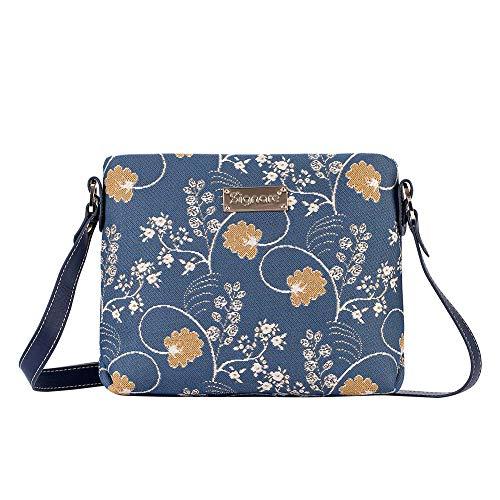Signare Tapestry Arazzo Borsa a Tracolla Donna, borsa a spalla donna, Crossbody bags con Disegni Floreali (Austen Blue)