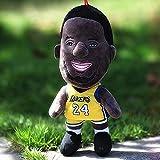 stogiit 25Cm NBA Jugador de Baloncesto Super Stars Kobe Bryant Plush Doll Toys Cool Kobe Bryant Plush Stuffed Figure Toys Regalos para niños