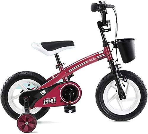 HCMNME Bicicleta Duradera, Bicicleta Triciclo Interior de los niños/Bicicletas de los niños al Aire Libre adecuadas for los niños Práctica 3~10 Año de la Seguridad Bicicleta Vieja Muchach