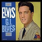 Elvis Presley G.I. Blues - Album con cornice, in MDF, multicolore, 32 x 32 x 1,5 cm