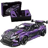 Coche deportivo Technic, coche de bloque de construcción de superdeportivo púrpura 1: 8, versión estática de 3850 piezas del modelo de carreras, compatible con Lego. Purple,63 * 15 * 38cm