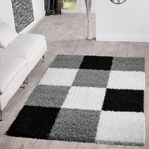 T/&T Design Tapis Shaggy Poils Hauts Prix Choc Monochrome en Lilas Moderne Dimension:60x100 cm