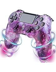 PS4-kontroll, trådlös kontroll kompatibel med PS4/PS4 Pro/PS4 Slim/PC med pekpanel/ljudfunktion/6-axiers sensor/dubbel vibration, 600 mAh batteri