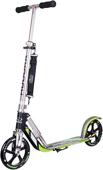Hudora 14695 Big Wheel GS 205 - Patinete, color negro / verde ...