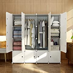 "✔【LARGE & MULTI-USE STORAGE】 A total size of 56"" x 18"" x 56"". Each cube can support more than 22 lbs and 14"" x 14"" x 18"" large, can store 25 shirts or 15 dresses in a single cube. Great storage space to store clothes, bags, accessories, shoes and man..."