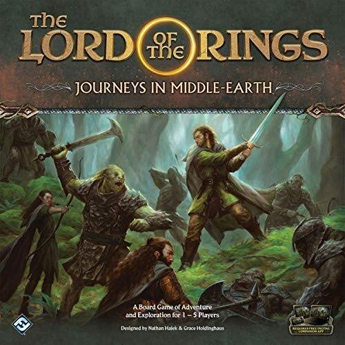 Lord of the Rings Journeys in Middle Earth - Bordspel - Vijf avonturen in Middle-Earth - Voor de hele Familie - Taal: Engels