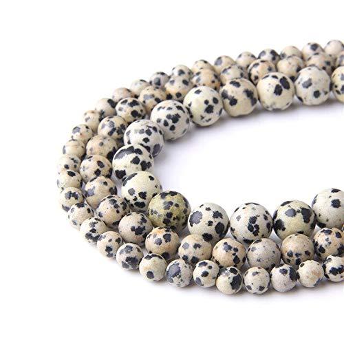 Cuentas de hematita negras de 39,4 cm, 4 mm, 6 mm, 8 mm, 10 mm, sin magnéticas, redondas, pulidas, sueltas, para hacer joyas, pulseras de hombres