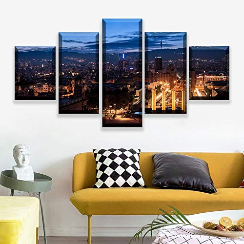 Rkmaster-Picture Frame Modern Home Decoration HD Photo Posters 5 Barcelona Landscape Seascape...