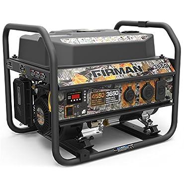 Firman P03609 Recoil Start Gas Portable 4550/3650-Watt Generator cETL Certified With Camo Print
