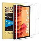 SPARIN 2 Stück Panzerglas Schutzfolie Kompatibel mit Samsung Galaxy Tab A7 2020 mit Montagerahmen, Bildschirmschutzfolie