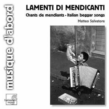 Chants de mendiants en Italie