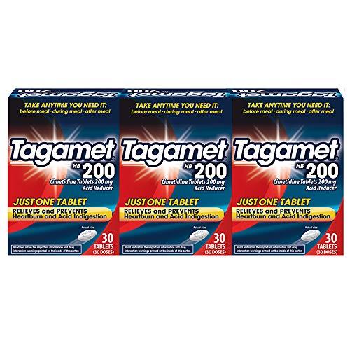 Tagamet Acid Reducer Cimetidine 200mg 30 Tablets 3 Pack