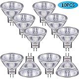10 Pieces Halogen Light Bulbs MR11 12V FTD Halogen Spotlight Bulbs, GU4 Bi-Pin Base, Glass Cover, Warm White 2700K Dimmable Precision Halogen Reflector Fiber Optic Light Bulb (20 Watt)