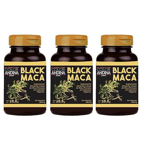 Maca Peruana Black (Preta) Maca, Color Andina Food, Veg, 180 caps