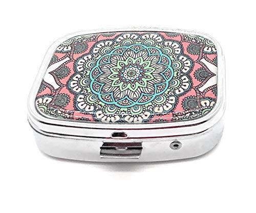 MovilCom® Pastillero diario de bolsillo organizador 2 compartimentos, pastillero organizador pastillas toma diaria, caja medicamentos (mod.653206)