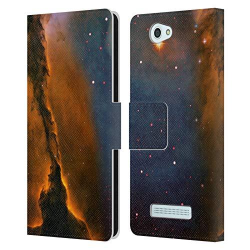 Head Hülle Designs Offizielle Cosmo18 Sternenfoermig Weltraum 2 Leder Brieftaschen Handyhülle Hülle Huelle kompatibel mit Wileyfox Spark/Plus