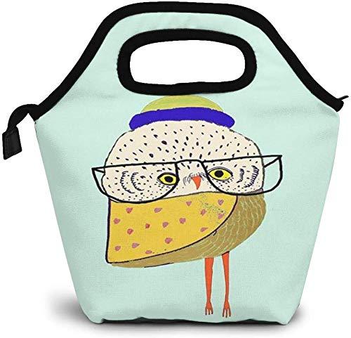Bolsa de almuerzo con aislamiento de búho fresco, caja Bento personalizada, enfriador de picnic, bolso portátil, bolsa de almuerzo para mujeres, niñas, hombres, niños