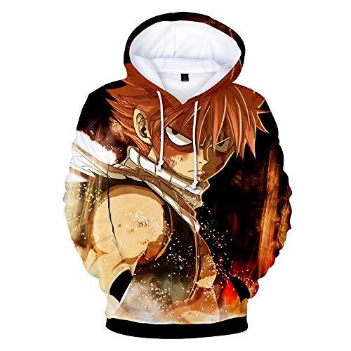 Haililais Fairy Tail Sudaderas con Capucha Suéter Tops Impresión 3D Hipster Sweatshirts Jerseys Ocasionales Sueter para Mujeres y Hombres