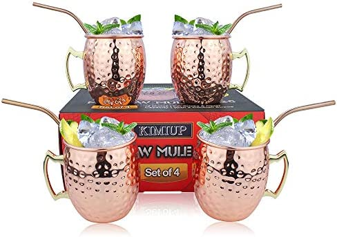 Moscow Mule Mugs 16 oz Copper Cup with Brass Handle Stainless Steel Lining for Beer Cocktail product image