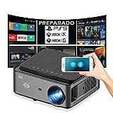 Proyector 4K, Android 9.0, 8.200 Lúmenes, Contraste 15.000:1 ,Fullhd Nativo, Cine en Casa 300', Bluetooth, Altavoces Integrados, Portatil, Keystone 4D, Preparado para PS5, Xbox Series, Zoom Digital