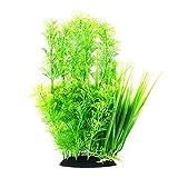 30cm Thick Green Plastic Artificial Plant Bush Reeds for Aquarium <span class='highlight'>Fish</span> Tank <span class='highlight'>Aquatic</span> Greenery Décor Decoration Water Grass Plants