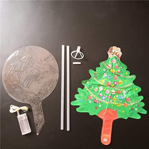 LWCOTTAGE Weihnachten Ballons,36 Inch Ballon Transparenten Kuppel Mit Mini Folie Ballons Weihnachten Dekoration Für Zu Hause Geburtstag Kinder Spielzeug Geführt, Weihnachtsbaum