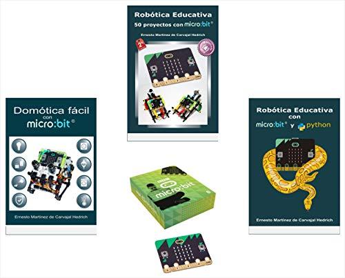 Pack Plus – 3 Libros de Robótica Educativa con micro:bit + placa micro:bit
