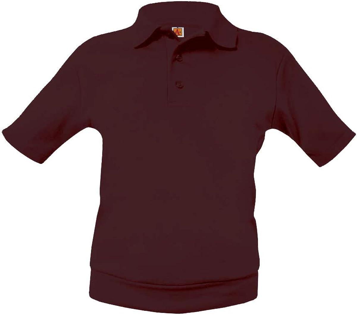 A-PLUS SUPPLY School Uniform Unisex Short Sleeve Pique Overshirt