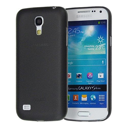 doupi UltraSlim Hülle kompatibel für Samsung Galaxy S4 Mini i9195, Ultra Dünn Fein Matt Handyhülle Cover Bumper Schutz Schale Hard Hülle Taschenschutz Design Schutzhülle, schwarz