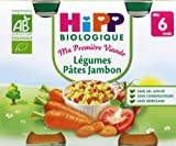 HiPP Biologisch für Gemüse, Schinken, 2 x 190 g, ab 6 Monaten
