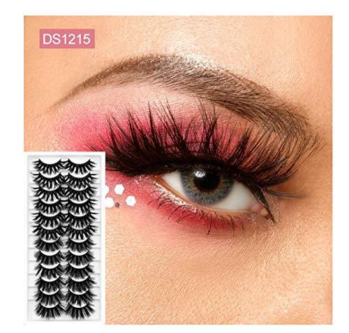 Falsche Wimpern 12Pairs 3D Hair Falsche Wimpern Handgemachte natürliche lange Wimpern Wispy Fluffy Lashes Wiederverwendbare falsche Wimpernverlängerung