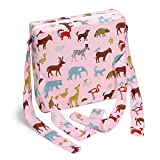 Sumnacon Chair Increasing Cushion - Baby Toddler Kids Infant Portable Dismountable Highchair Booster Cushion Washable Thick Chair Seat Cloth Strap(Pink Animal)