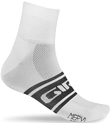 Giro Calzini Ciclismo Meryl Classic Calzini, Multicolore (White/Black Clean), L