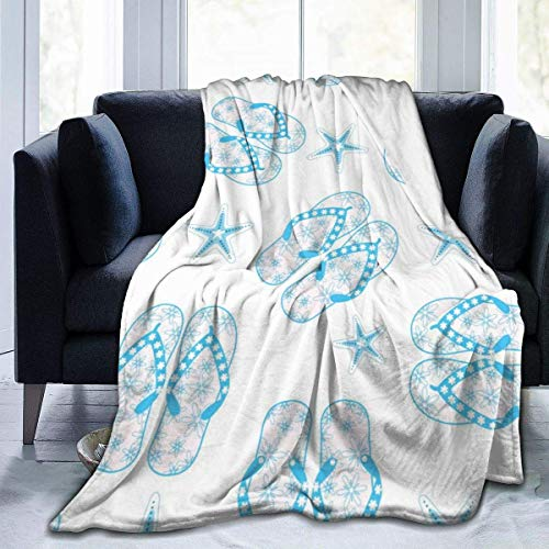 Flip Pattern Ultra-Soft Micro Fleece Warm Throw Blanket Lightweight All Season Blanket for Bed Couch Chair Living Room