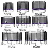 Gartentrampolin Kindertrampolin Trampolin 427 bis 430 cm lila komplettes Set mit Sicherheitsnetz und...