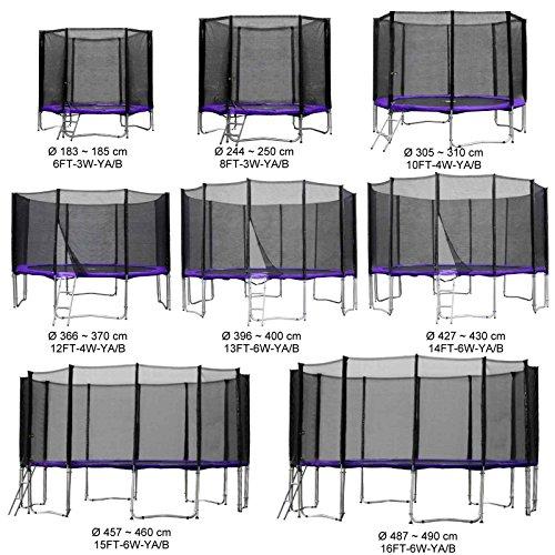 Baunsal GmbH & Co.KG Gartentrampolin Kindertrampolin Trampolin 244 bis 250 cm lila komplettes Set mit Sicherheitsnetz und Einstiegsleiter … …