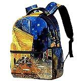 FuJae Grand sac à dos de voyage Sac à dos pour ordinateur portable Cafetière Sac à dos léger de vacances