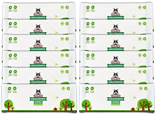 Pogi's Grooming Wipes Paquete de Viaje - 240 toallitas desodorantes para Perros - Aroma de té Verde, Naturales, Extra Grandes, Biodegradable