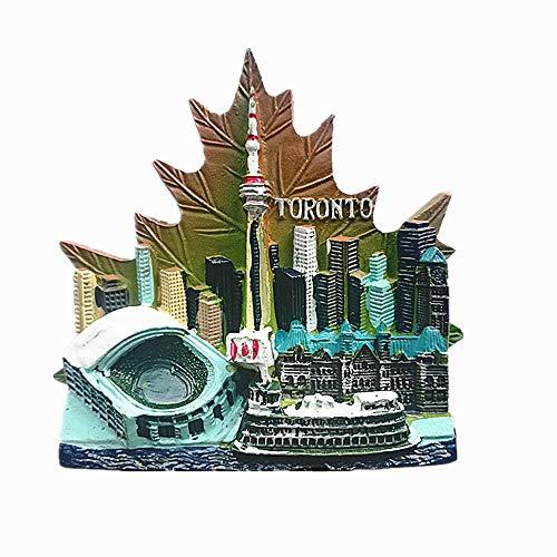 Imán para nevera con diseño de Toronto Canadá, para decoración del hogar y la cocina, imán para nevera de Canadá