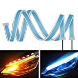 Best Daytime Running Led Strips - 2PC 24 Inch Dual Color Blue/Sequence Amber LED Review