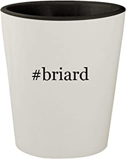 #briard - White Outer & Black Inner Hashtag Ceramic 1.5oz Shot Glass